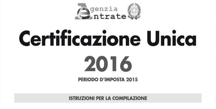 Certificazione unica cu 2016 - Certificazione lavoro autonomo provvigioni e redditi diversi causale a ...