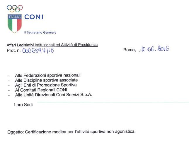 Circolare CONI Certificati Medici 10 giugno 2016_Pagina_1